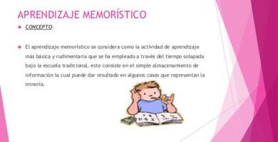El Aprendizaje Memorístico